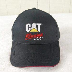 CAT Racing Snap Back Hat Black Embroidered Logo